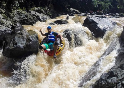 River rafting with tubes
